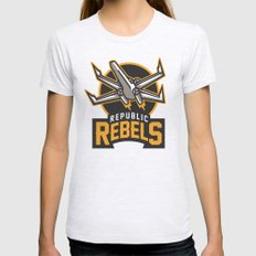 Republic Rebels Womens Fitted Tee Ash Grey SMALL