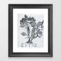 Cabeza De Flores Framed Art Print