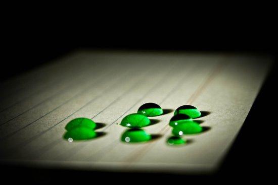 Emerald Rain Art Print