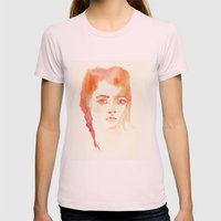 i was afraid... Womens Fitted Tee Light Pink SMALL