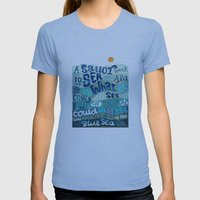 A Sailor Went To Sea Womens Fitted Tee Athletic Blue SMALL