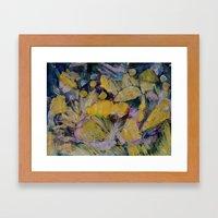 Gloden Harvest Collage Framed Art Print