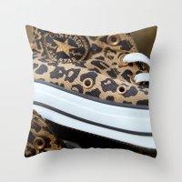 Converse Leopard All Sta… Throw Pillow