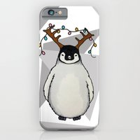 iPhone & iPod Case featuring Penguin Christmas by HarrietAliceFox