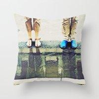 Blue. Throw Pillow