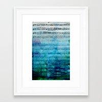 Blue mood music Framed Art Print