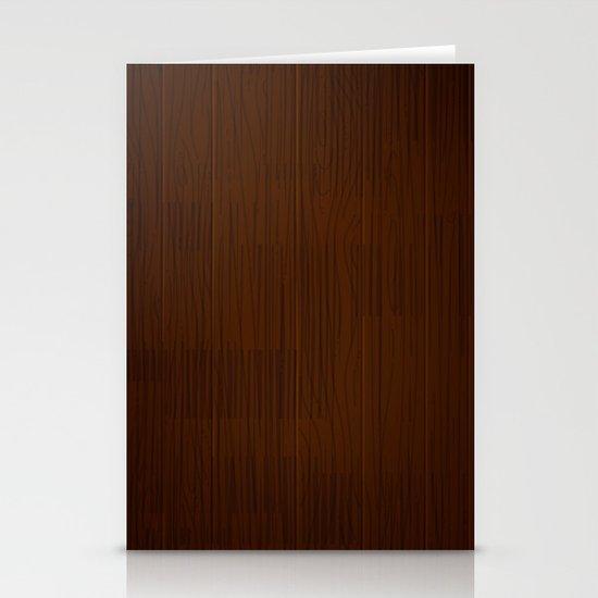 Retro Wood by Friztin Stationery Card