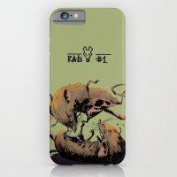 iPhone & iPod Case featuring rat fight by antoniopiedade