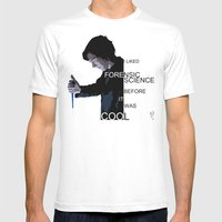 I liked Forensic Science before it was Cool Mens Fitted Tee White SMALL