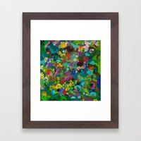 Flower Forest Framed Art Print
