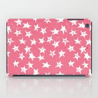 Linocut Stars- Blush & White iPad Case