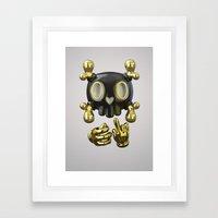 Crossbone SkullToon Framed Art Print