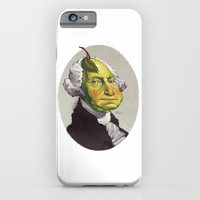 "iPhone & iPod Case featuring George ""The Pear"" Washing by Nick Sadek Illustration"