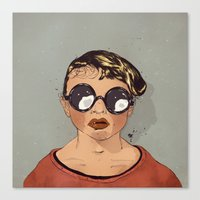 Boy With Glasses Canvas Print