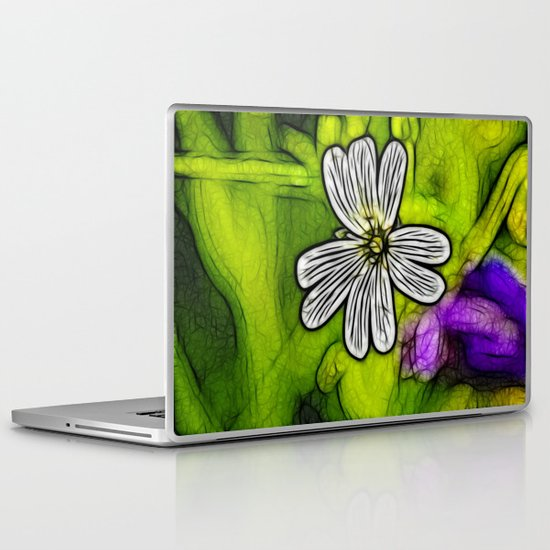 Fractal Stitchwort Laptop & iPad Skin