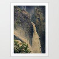 Barron Falls in retro style Art Print