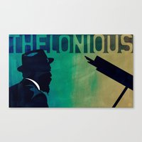 Thelonious in Blue Canvas Print