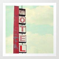 Vintage Motel Art Print
