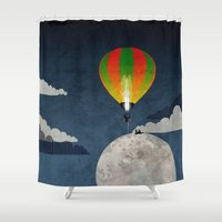 Picnic In A Balloon On T… Shower Curtain