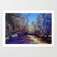 Channel Trees Art Print