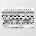aztec tribal: black and white Canvas Print