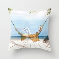 Chill, Relax, It's Summe… Throw Pillow