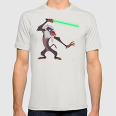 Master Rafiki !  Mens Fitted Tee Silver SMALL