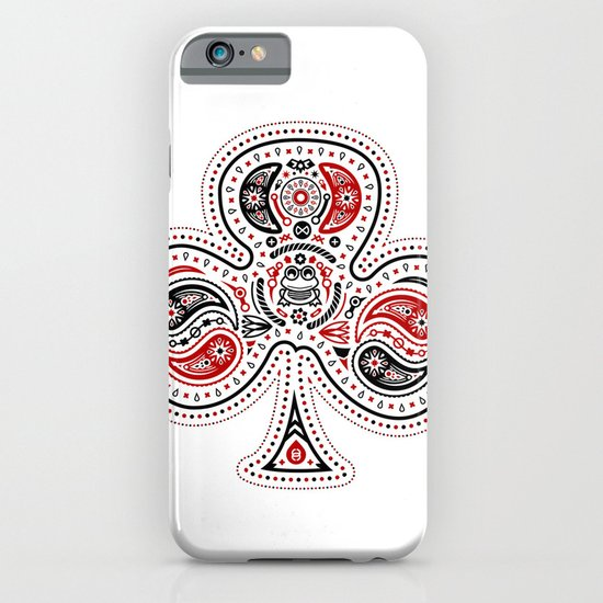 83 Drops - Clubs (Red & Black) iPhone & iPod Case