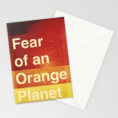 Fear of an Orange Planet Stationery Cards