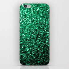 Beautiful Emerald Green glitter sparkles iPhone & iPod Skin
