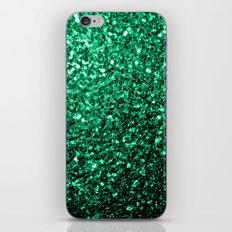 Beautiful Emerald Green glitter sparkles iPhone & iPod Skin