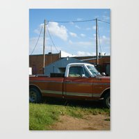 truck in west, tx Canvas Print
