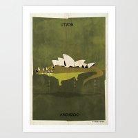 012_crocodile Art Print