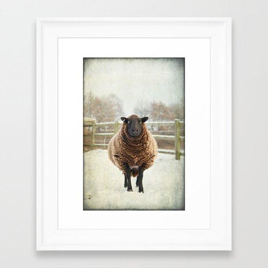 Zombie sheep Framed Art Print