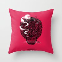 The Lost Island Throw Pillow