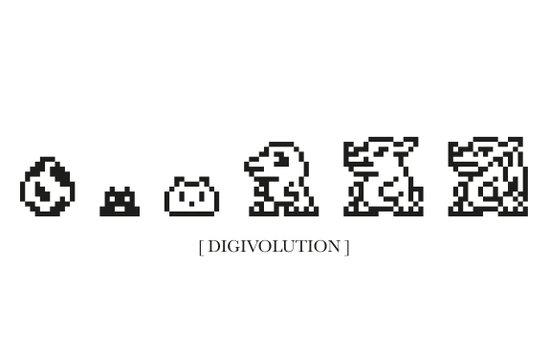 DIGIVOLUTION Art Print