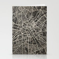 Manchester Map Ink Lines Stationery Cards