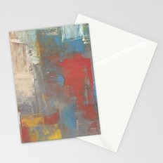 Multicolor Brush Strokes Stationery Cards