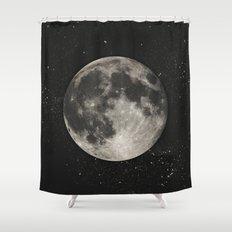The Moon  [Sans Type] Shower Curtain
