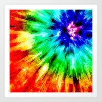 Tie Dye Meets Watercolor Art Print