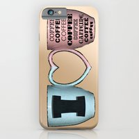 iPhone & iPod Case featuring I LOVE CAFFEINE by Brady Terry