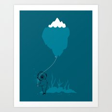 The Diver and his Balloon Art Print