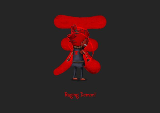 Raging Demon Canvas Print
