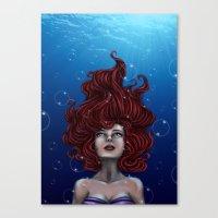 Tears Of A Mermaid Canvas Print