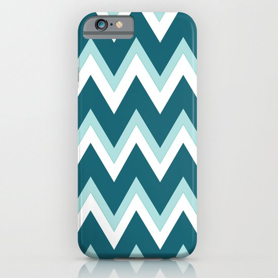 Teal Ombre` Chevron iPhone & iPod Case