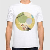 Bird Song Mens Fitted Tee Ash Grey SMALL