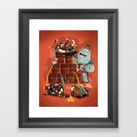 :::Drunk Vikings::: Framed Art Print