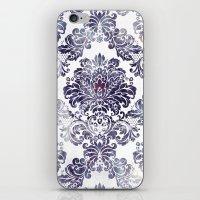 Blueberry Damask iPhone & iPod Skin