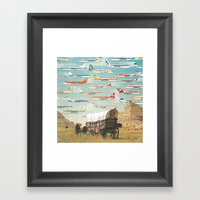 Over There Yonder Framed Art Print