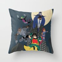 Teen Titans Throw Pillow